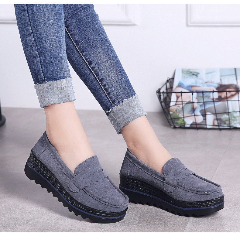 HX 8775-Spring Autumn Genuine Leather Women Shoes-14