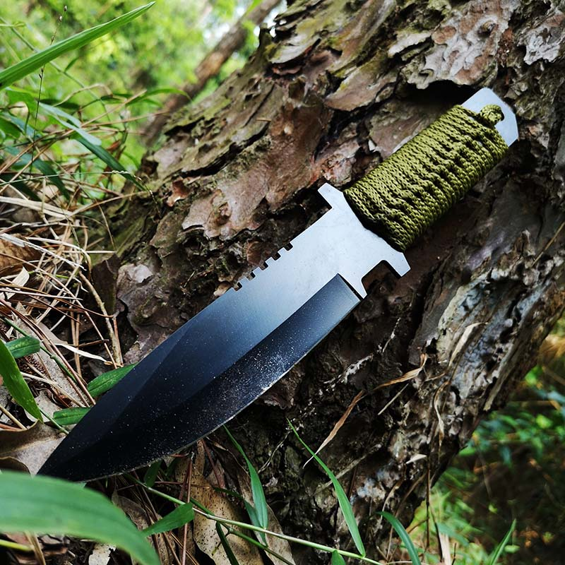 Outdoor Wild Field Survival Knife , Fixed Blade Hunting Camping Knifes With Sheath