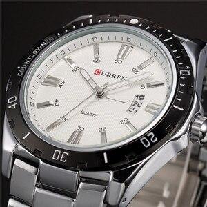 Image 3 - Herren Uhren Top Luxus Marke CURREN 2018 Männer Voller Stahl Uhren Quarzuhr Analog Wasserdicht Sport Army Military Armbanduhr