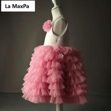 Long custom high end flower children dress girls Tutu princess dress costumes and performances