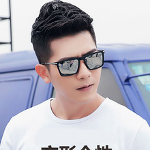 Fashion Flat Top Gradient Glasses Men Square Sunglasses classic RETRO SUNGLASSES 2019 new sunglasses street shooting