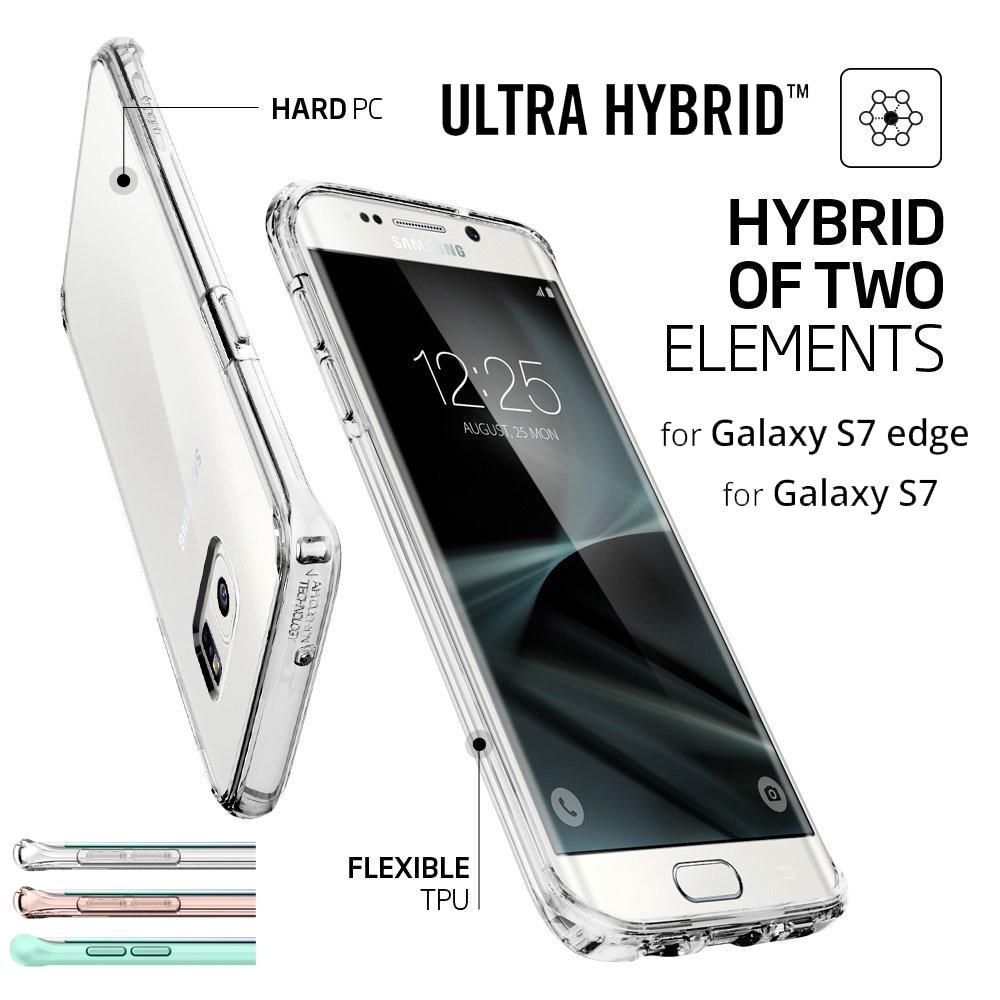 imágenes para Aliantech Ultra Híbrido/Crystal Shell Funda para Samsung Galaxy S7 borde/Galaxy S7 con Borrar Back Panel + Marco de TPU
