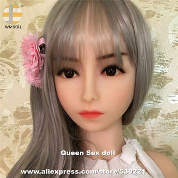 WMDOLL Top quality Japanese Love Doll Heads For Solid Silicone Sex Doll Realistic Mannequins Sexy Products - Category 🛒 Beauty & Health