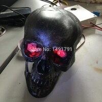 Human secrets room escape room props Secret room escape theme Scary sound skull cranihead unlock Light eyes