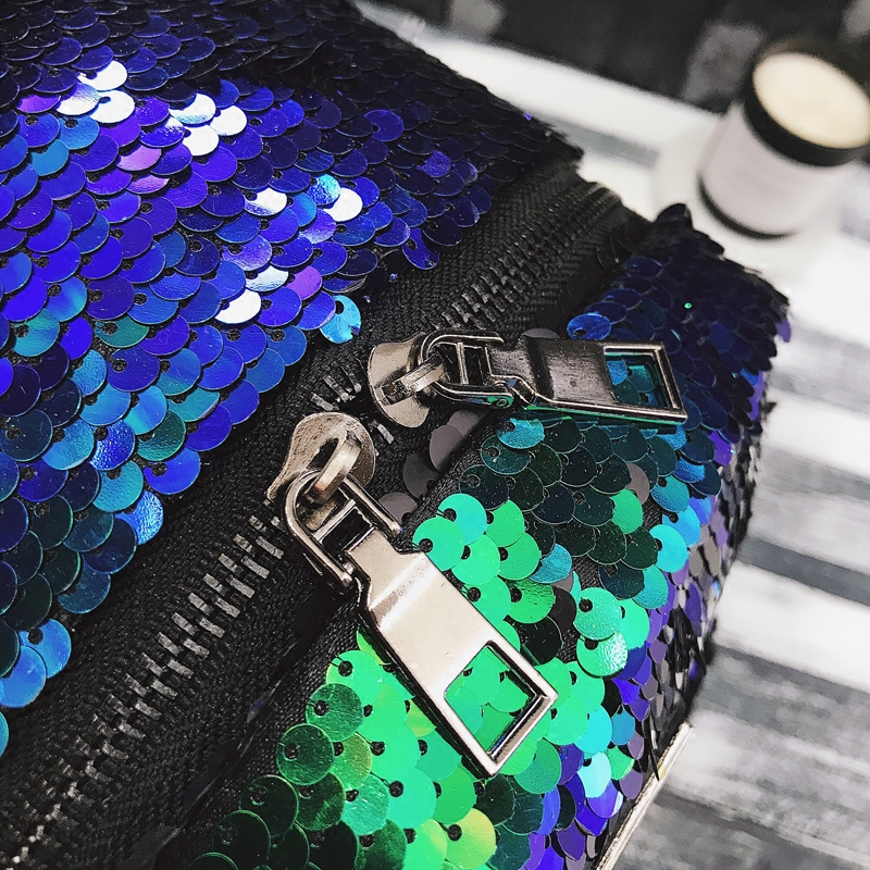 Sequin Backpack Korean version 2018 New Personality Badge Fashion Backpack Wild Casual 5