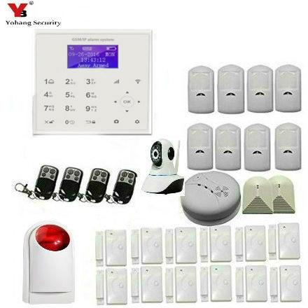 Yobang Security 433Mhz 2G Wireless Home Burglar Security wifi Security Alarm GSM Alarm System PIR Sensor With iP camera yobang security wireless wifi gsm alarm system for home wireless security alarm system with door sensor alarm systems