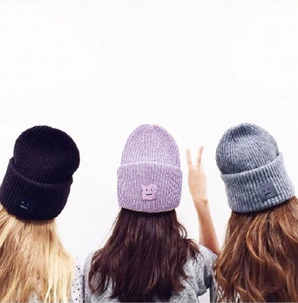 4cd47491 Free shipping 100% Acrylic knitted hat mens winter caps and hats beanie  ACNE bad hair day beanies VOGUE meow slouchy beanie-in Skullies & Beanies  from ...