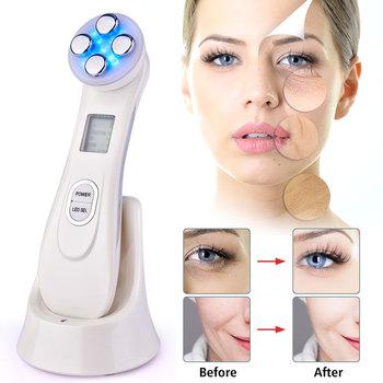 Elektroporacja LED Photon twarzy częstotliwość radiowa rf odmładzanie skóry EMS mezoterapia do dokręcania lifting twarzy zabieg kosmetyczny tanie i dobre opinie Hailicare Acrylic Akumulator Normal Maszyna wykonana 106333 LED Facial Machine Tightening Lifting Remove acne Whitening