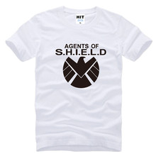 Avengers Agents of S.H.I.E.L.D. Shield Captain America Printed Mens Men O Neck Cotton T Shirt T-Shirt Tee(China)