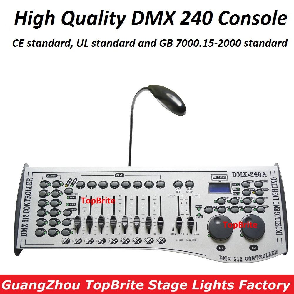 Vendita Standard Internazionale DMX 240 di Controllo del Regolatore di Testa Mobile Led Par Luci del Palcoscenico Console DJ 512 Controller Dmx Attrezzature