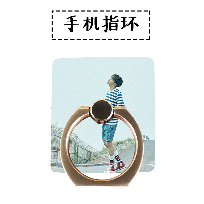 MYKPOP]BTS J-HOPE 360 Degree rotate Phone Desk Holder Finger Ring Stand Holder for all Smart Phones Fans Collection SA18061303