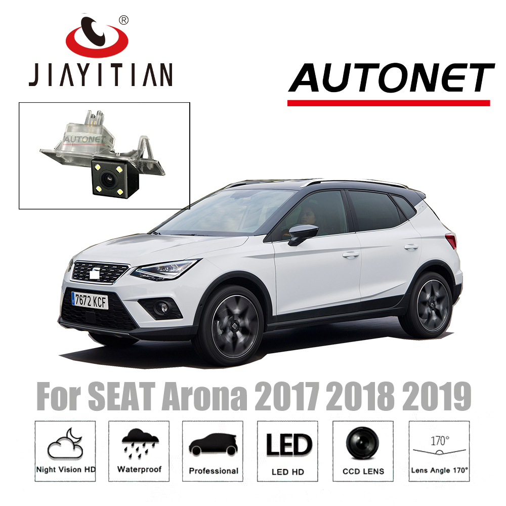 JIAYITIAN Rear View Camera For SEAT Arona 2017 2018 2019 with HQ LED CCD Night Vision Backup camera license plate camera