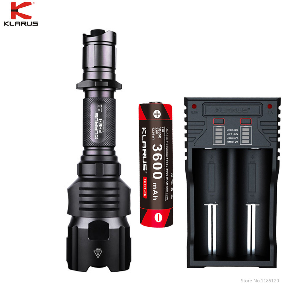 KLARUS FH10 Tactical Flashlight CREE XP Red Green White LED max 700 lumen Adjustable beam throw 500 meter outdoor Hunting torch Люмен