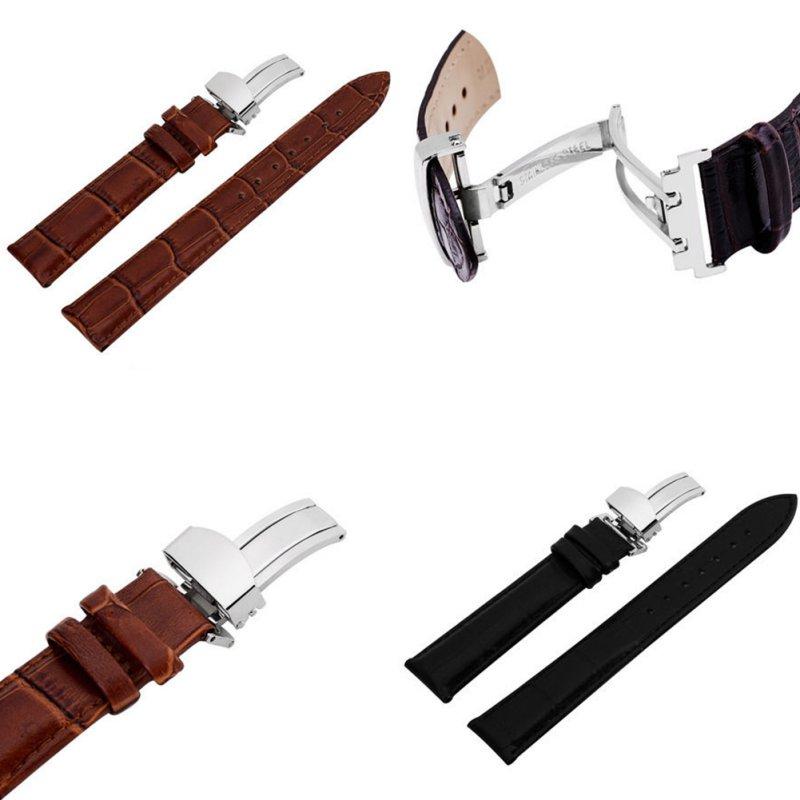 Kol Saati Kadın Erkek Watch Band Kayışı Kelebek Desen Deployant - Saat Aksesuarları - Fotoğraf 6