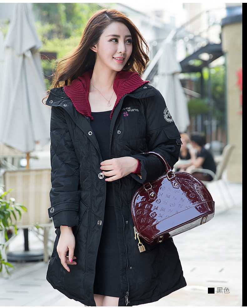 New comes korean style winter fashion  cotton single-breasted zipper removable hat long sleeves external upset women coat H3888 free shipping boruoss 2015 new fashion winter cotton coat women short single breasted coat boruoss w1292