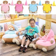 Baby Cartoon Seat Cover Soft Plush Toy Stuffed Bear Animals Comfortable Child Lazy Sofa Gift Home Decoration(China)