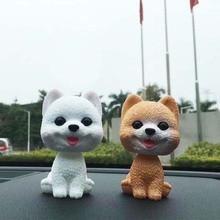 Nodding Dog Puppy Toys Car Interior Accessories Cute Deco Ornaments Shaking Head Auto Dashboard Bobblehead