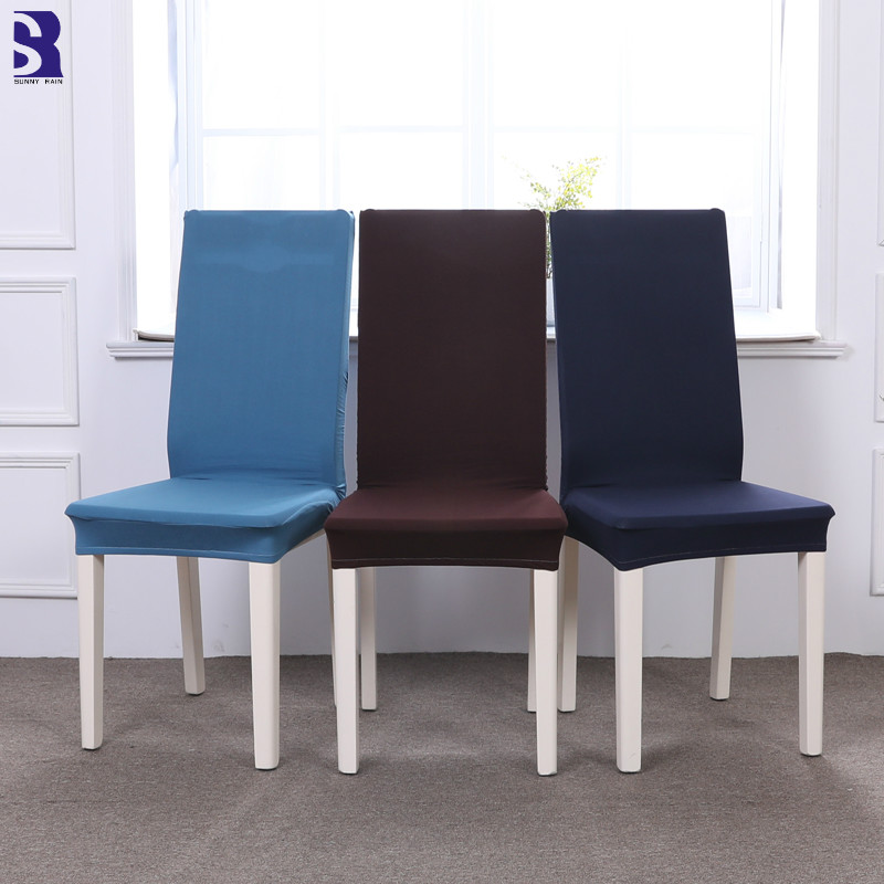 SunnyRain 4/6/10/12 Pieces Chair Cover Sets Solid Color
