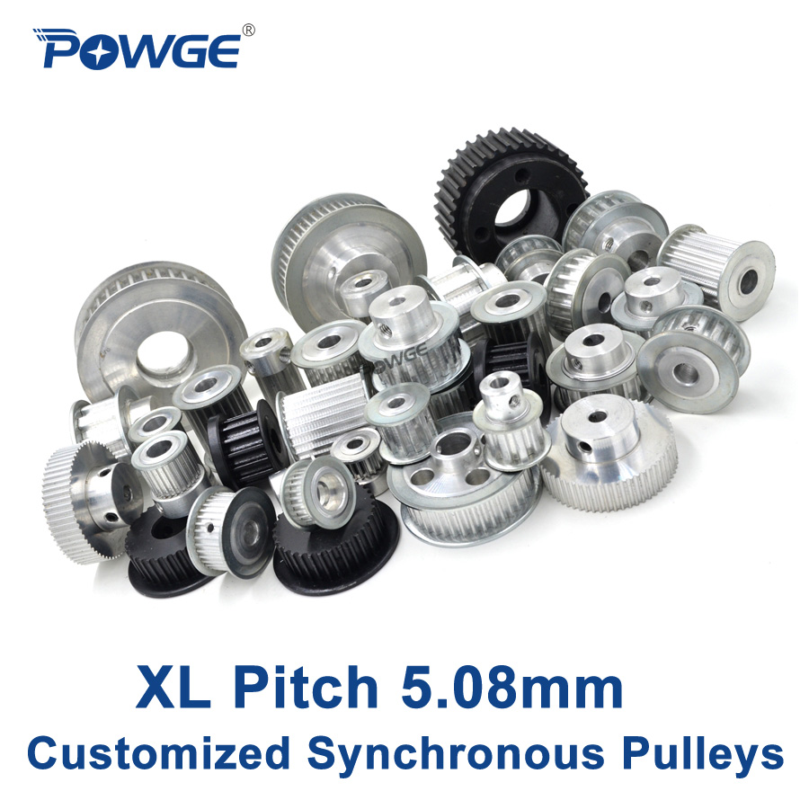 POWGE Inch Trapezoid XL Synchronous pulley pitch 5 08mm wheel Gear Manufacture Customizing all kinds of