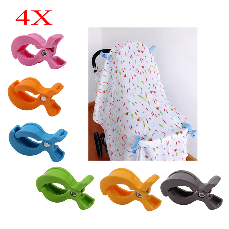 Toy Clips Blanket Car-Seat-Accessories Stroller Baby Peg-To-Hook-Cover Lamp 4pcs/Set