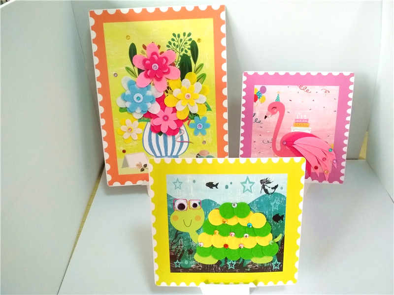 Happyxuan 6 Фотографии/коробка фетр для поделок комплект дети стикеры DIY Творческий девушка игрушка детский сад ремесленных материал для творчества подарок на день рожден