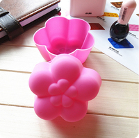 High temperature 8cm plum blossom shape cake mold silicone mold 10 piece/lot