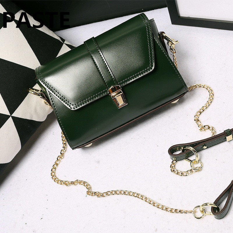 Women genuine leather Chains Messenger Bags New Vintage Bag Ladies Famous Brand Crossbody Bag Women Rivet Handbags Shoulder Bags famous brand designer 2018 ladies small messenger bags women serpentine leather shoulder bag high quality chains crossbody bags