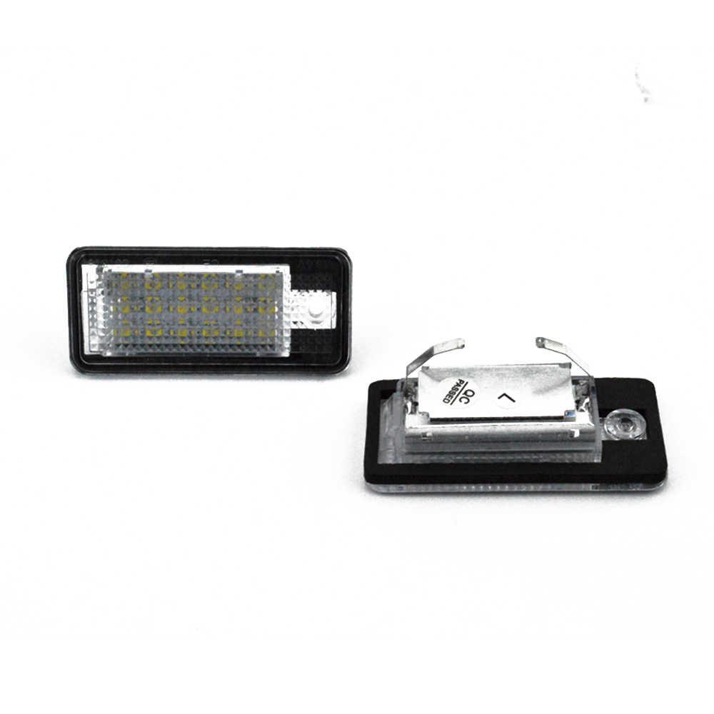2 pièces 18LED A3 Lampe D'éclairage De Plaque D'immatriculation Permis LED Blanc Brillant Plaque D'immatriculation Lampe Pour A3/S3 04-12 A4 S4 A6 C6 RS4 S6 05-