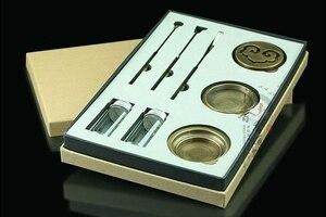 Image 3 - PINNY высококачественный набор медный для благовоний горелка тонкая курильница ящик для инструментов подарки и Ремесла домашние украшения держатель для благовоний ароматическая печь