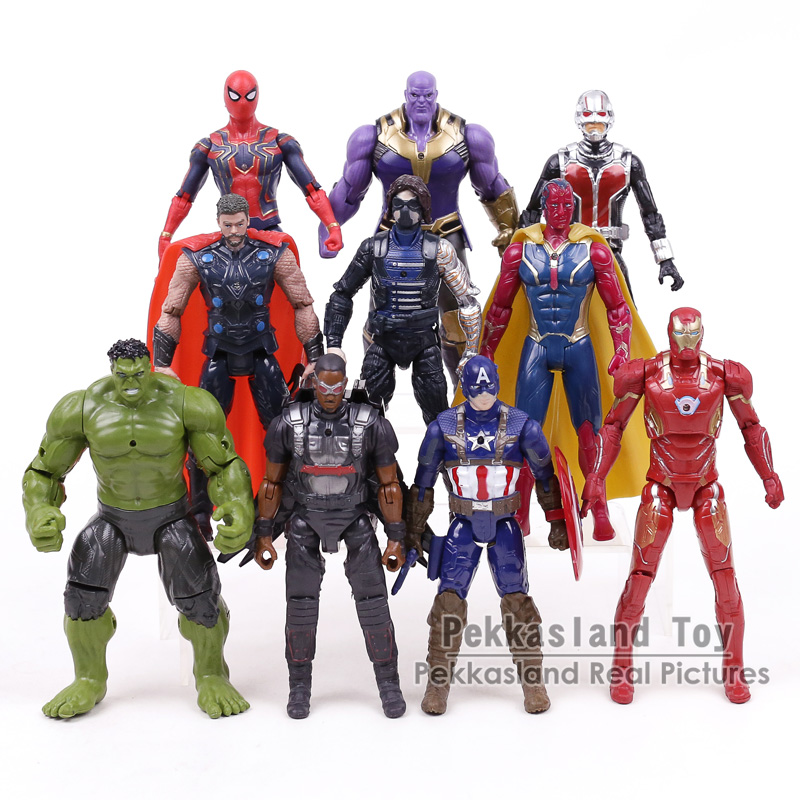 Avengers Infinity Guerra Marvel Super Heroes Figures Giocattoli ron Man Capitan America Hulk Spiderman Thor Thanos Visione Winter Soldier