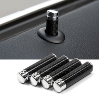 Carbon Fiber Car Door Lock Bolt Cover Trim Interior Stick Pin Cap Decal Auto Accessories Sticker