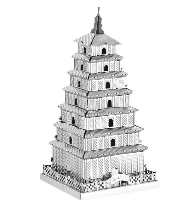 3d-puzzle-precision-laser-cutting-metal-Maiden-Tower-Maya-Pyramid-Yueyang-TowerBig-Wild-Goose-Pagoda-model-puzzle-toys-3