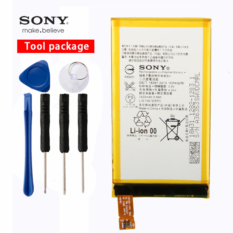 Original Sony High Capacity Phone Battery For Xperia Z3 Mini Compact Z3C D5803 D5833 LIS1561ERPC 2600mAh