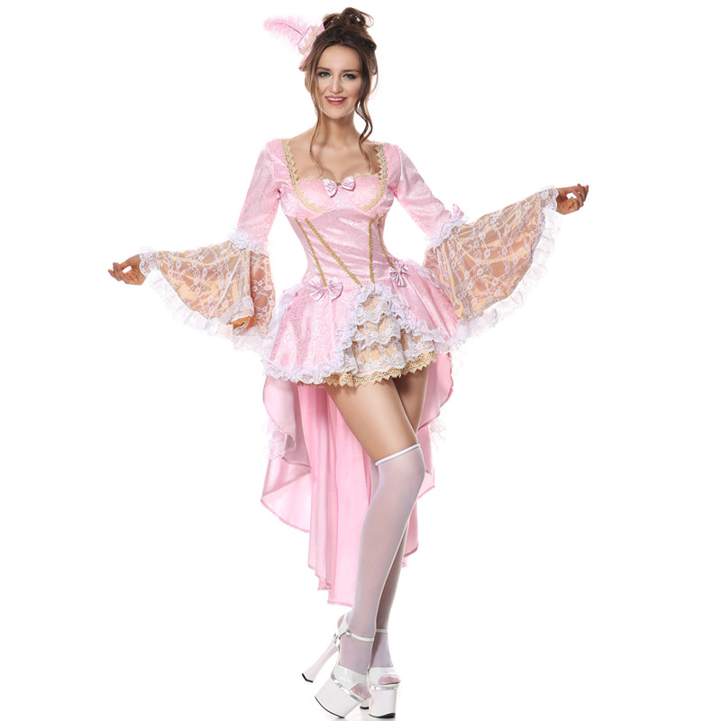 Pink Fantasias Alice In Wonderland Costume Woman Halloween Cosplay Party Mermaid Princess Costumes Adult Queen Swallow Dress+Hat