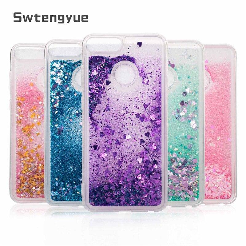 For Huawei Honor 9 Lite Case Dynamic Liquid Glitter Bling Sand Soft TPU Phone Case For Huawei Honor 9 Lite Case Cover