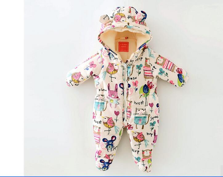 Newborn Baby boys Clothes cartoon Baby girls Rompers layette Winter Thick Warm Graffiti Baby Snowsuit Thick Toddler Jumpsuits cotton baby rompers set newborn clothes baby clothing boys girls cartoon jumpsuits long sleeve overalls coveralls autumn winter