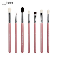 Basic Eye Brushes Set Blend Shadow Angled Eyeliner Smoked Bloom Makeup Brush Pink Silver
