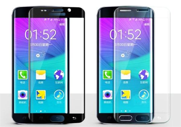 Claro Color de la cubierta completa 2.5D 9 H Hard Glass Film Protector de pantalla para Samsung Galaxy S6 borde curvo venta caliente EC830A