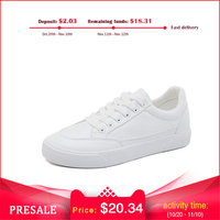 Smile Circle Men's White Sneakers man Ultra soft Comfortable Lace up Casual Men Vulcanize Shoes 2018
