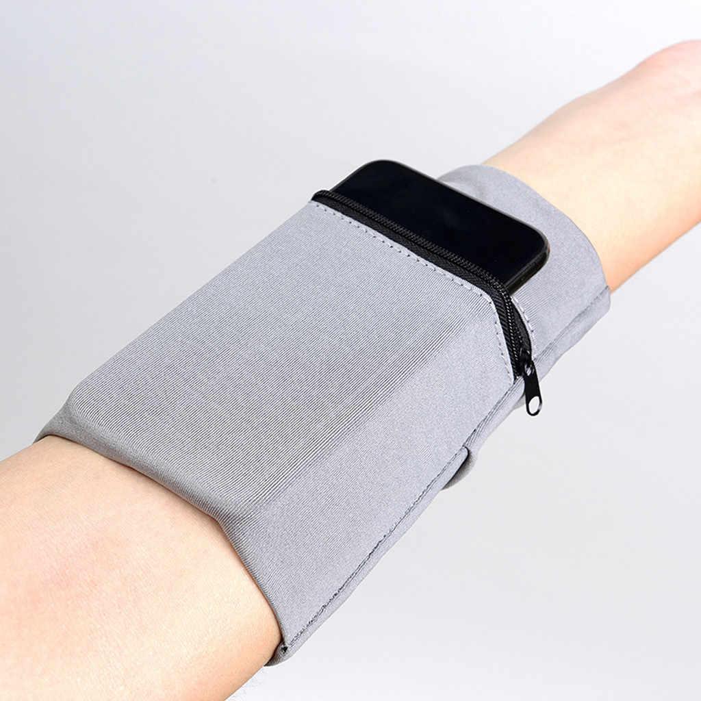 Band Pergelangan Tangan Dukungan Multifungsi Wrist Band Zipper Ankle Wrap Olahraga Pergelangan Tangan Tali Dompet Penyimpanan