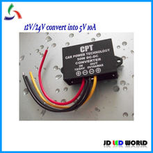 DC-DC Converters 12V/24V to 5V 10A 50W DC Converter Car or Bus Led Display sign Power Supply(China)