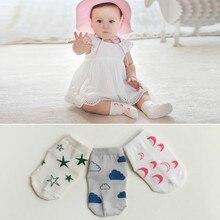 Summer Children Socks Baby Cotton Cartoon Infant Moon Stars Print Socks 0 4Y