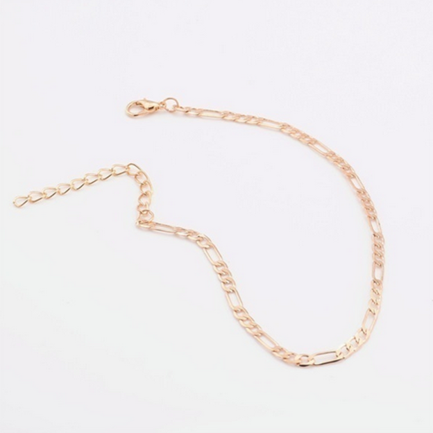 Jewelry Anklet Simple Fashion Anklet Stainless Steel Leg Bracelet Rose Gold and Silver Non-fading Beach Bracelet Women