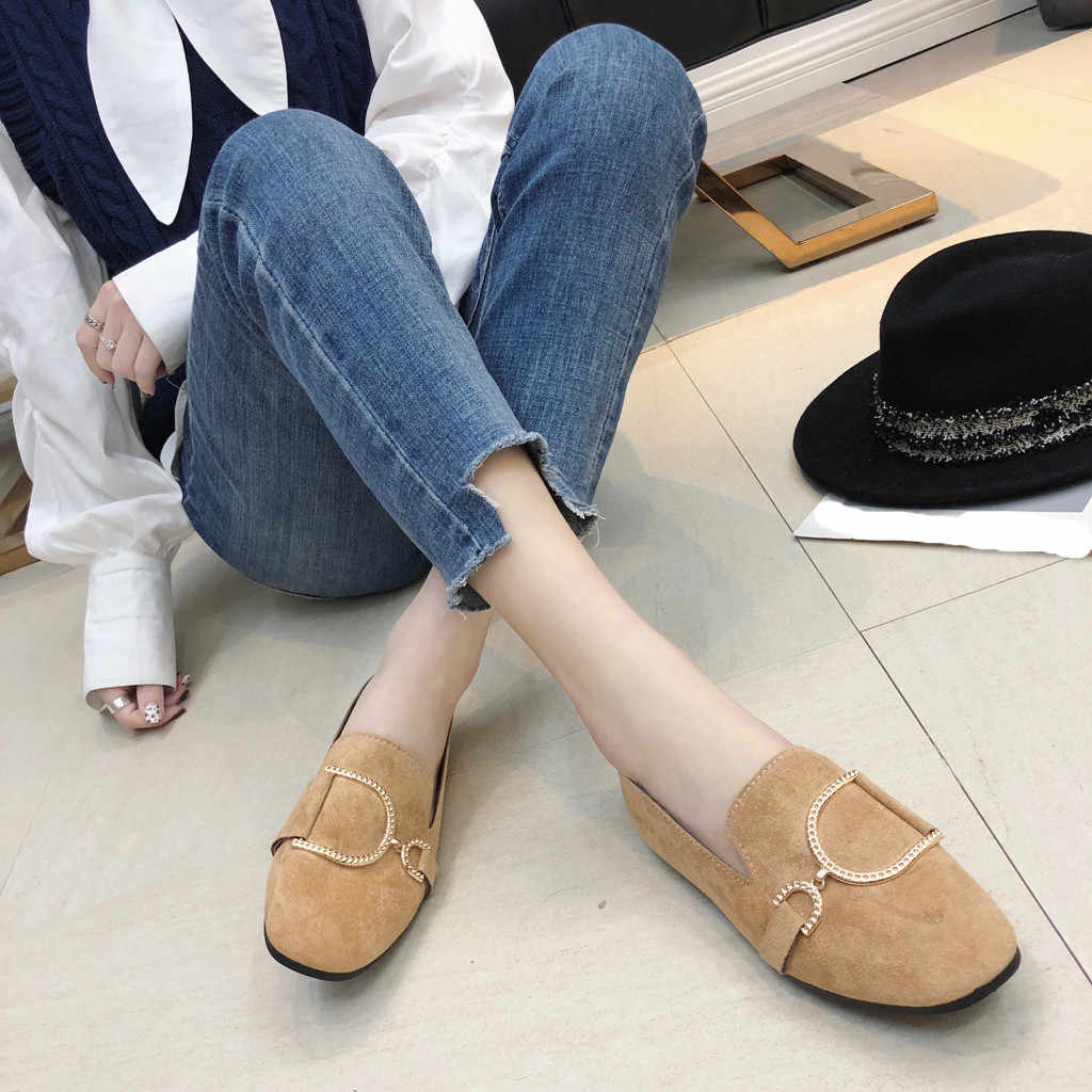 7e0e08cdfd4 ... 2019 Women s Pumps New Fashion Spring Summer Shoes Leisure Lady Square  Heel Shallow Low-Heeled ...