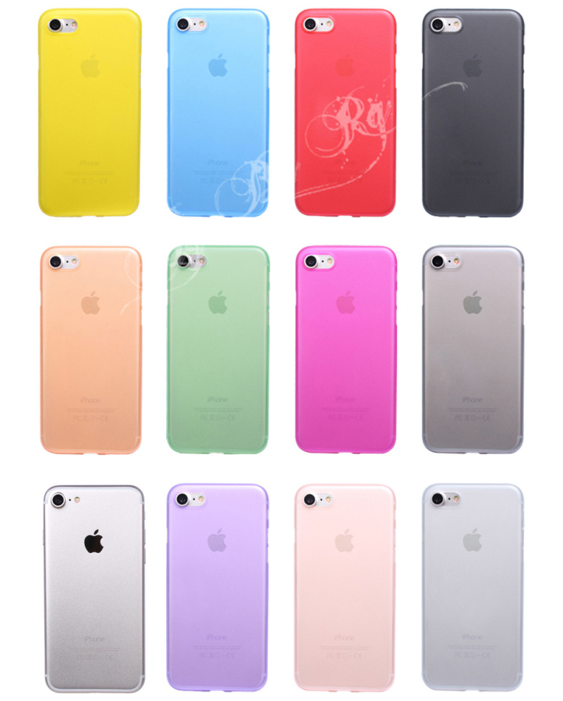 HTB1QPvVQXXXXXctXFXXq6xXFXXX7 - FREE SHIPPING Ultrathin Hard frosted Case for iphone X 7 6S 6 8 Plus Slim Matte PP Cover Clear Black Grey Purple Rose Red Green Blue JKP386