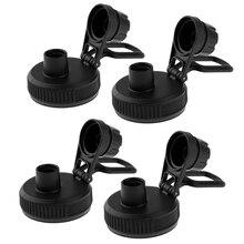 4 Pack Water Bottle Lid Spout Push Up Auto Flip Top Locking Cap for 60mm Diameter Bottles- Portable, Durable, BPA Free