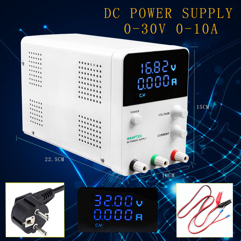 2018 New style Mini Adjustable Digital DC Power Supply 0-30V 0-10A Switch Power Supply Voltage Regulators use for laboratory qj3005t variable linear input voltage 110v ac dc led digital voltage regulators power supply adjustable 0 30v 0 5a power supply