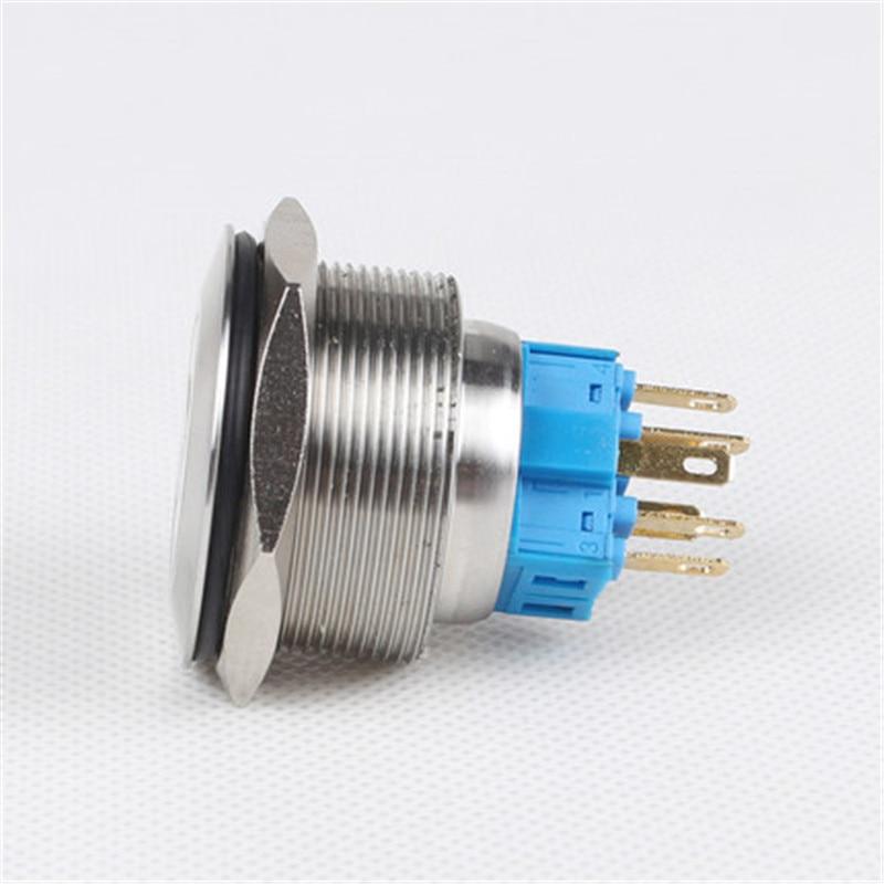 30mm mit power symbole Metall Druckschalter Flache Runde reset ...