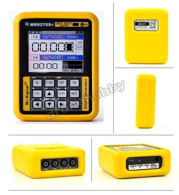4 20мА генератор сигналов калибровочный Ток Напряжение PT100 термопары Датчик давления регистратор PID частота MR9270S +