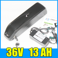 36v electric bike battery 36v 13ah Samsung lithium Hailong bottle battery pack Free shipping and duty